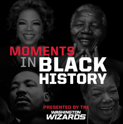 Washington Wizards Black History Month Campaign Councourse Signage