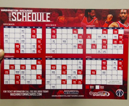 washington wizards schedule poster and magnet michelle holder