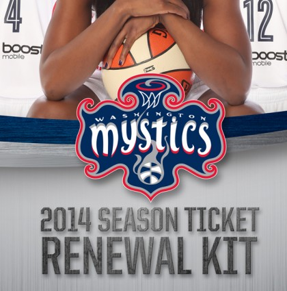 Washington Mystics 2014 Season Renewal Tickets Brochure